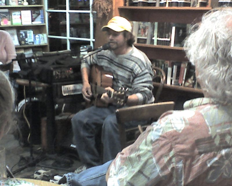 Greg Campbell plays at Upstart Crow in Seaport Village.