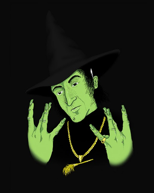 Wicked witch of the westside via culturepopped and Phil Jones threadless