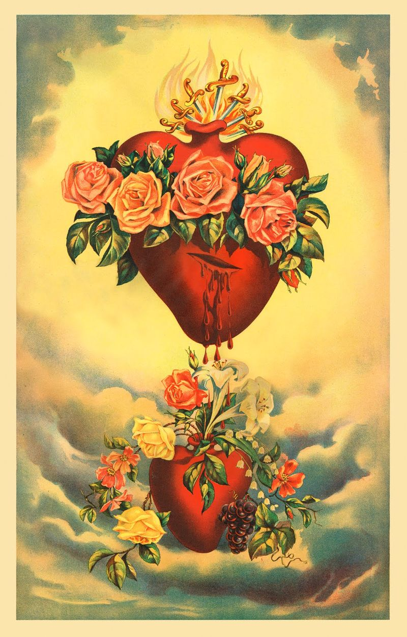Heart Of Mary via freeantiqueimages