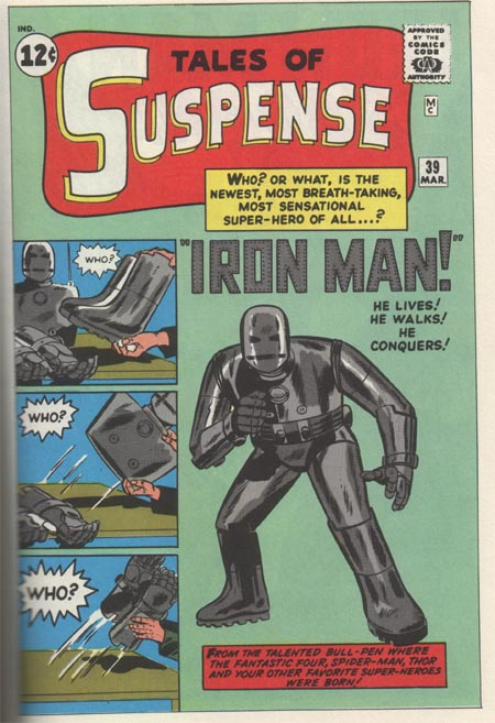 Iron Man debut Tales of Suspense no39 March 1963 via fumettimarvel