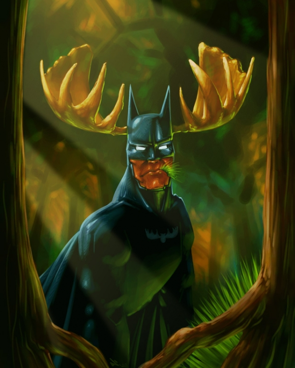 Batman mooseman via iambitta