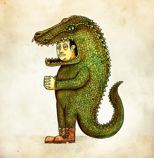 Halloween costume crocodile vaca by juan weiss