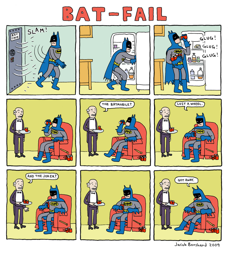 Batman batfail by jacob borshard via iheartbatman tumblr