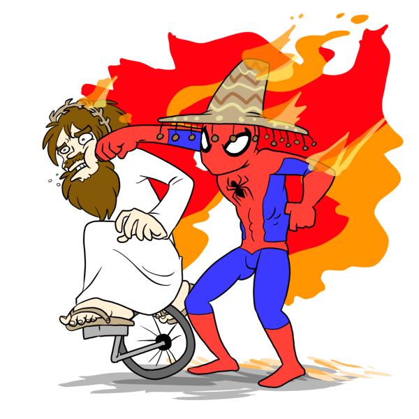 Spiderman jesus via fumettimarvel