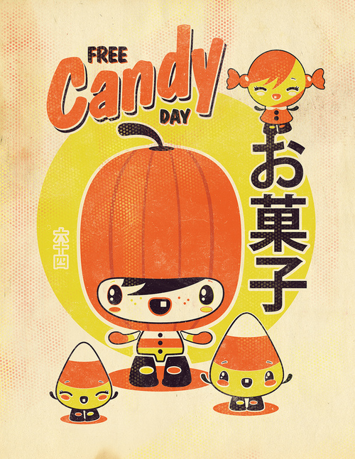 Halloween free candy by 64colors via hello zombie