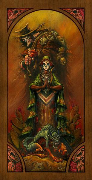 Halloween art A_Pagan_Unholy-Trinity of Mexican Folklore