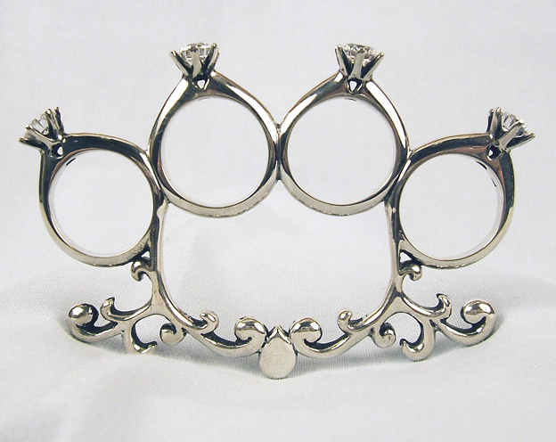 Diamond ring brass knuckles p via lovelikecancer