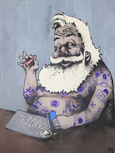 Xmas santa snow by dran via artsycoolture