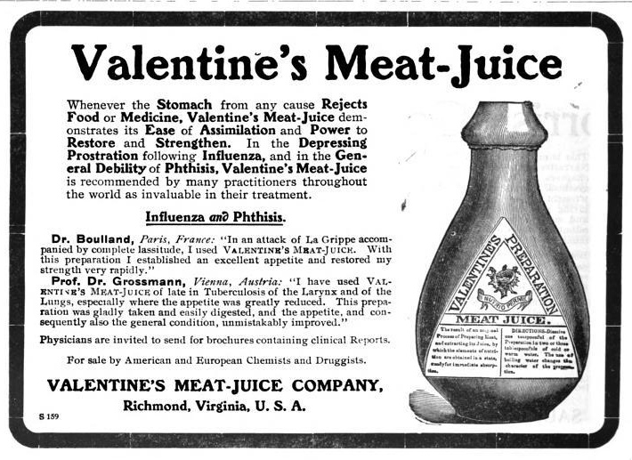 Valentines meat juice p via mostly forbidden zone