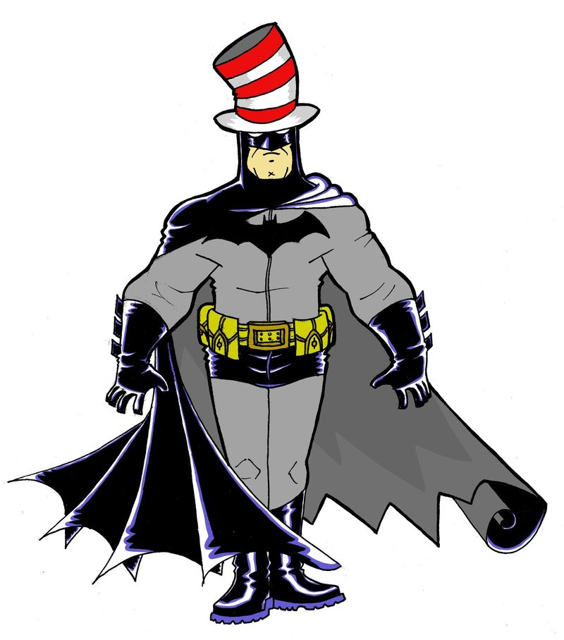 Cat In The Hat With A A Bat
