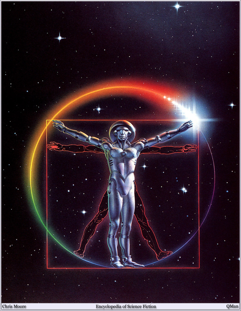 Davinci vitruvian sci-fi p by chris moore via magic-eye