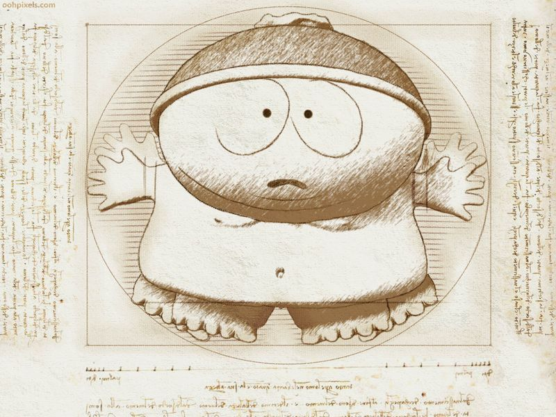 Davinci Vitruvian south park via neurosoftware