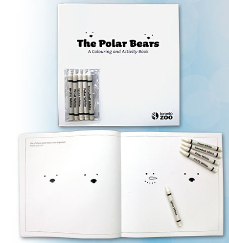 Polar bear coloring book via buzzfeed