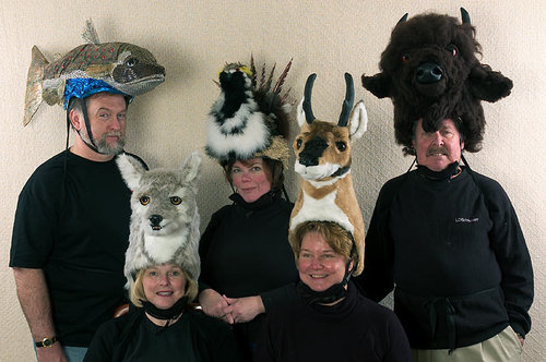 Animal hats via juliasegal