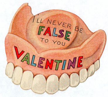 Valentine false teeth via kipling west flickr