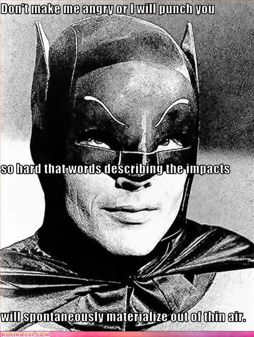 Batman punch words via mybatmans