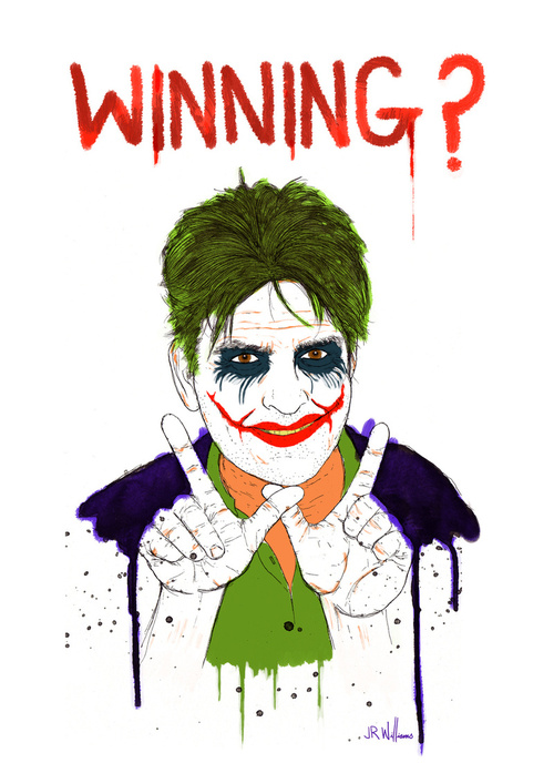 Charlie sheen Winning - by Jesse Robinson Williams via herochan