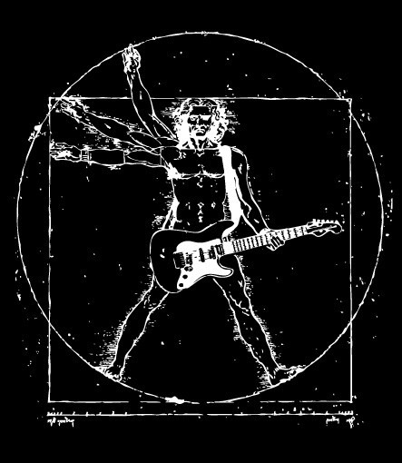 Davinci guitar via headlineshirts