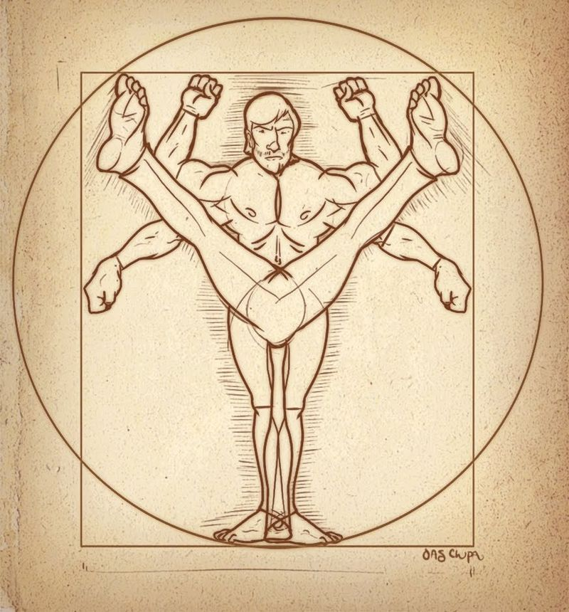 Davinci anatomy of a roundhouse kick via zero-lives