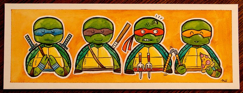 TMNT Teenage_Mutant_Ninja_Turtles_by_skutterfly deviantart