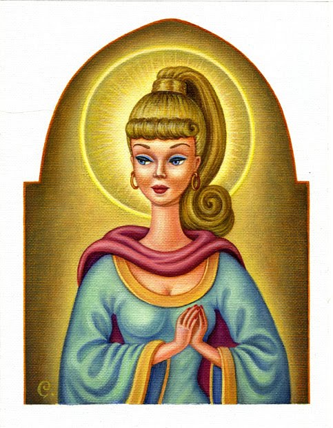 Barbie Icon -Saint Barbie of Kitsch - Our Lady of Plastic Curves - by Amy Crehore via pussyfoot