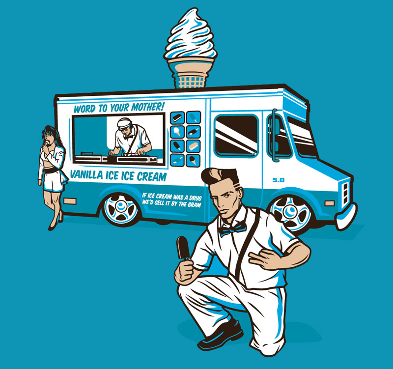 Vanilla ice cream man via riptapparel
