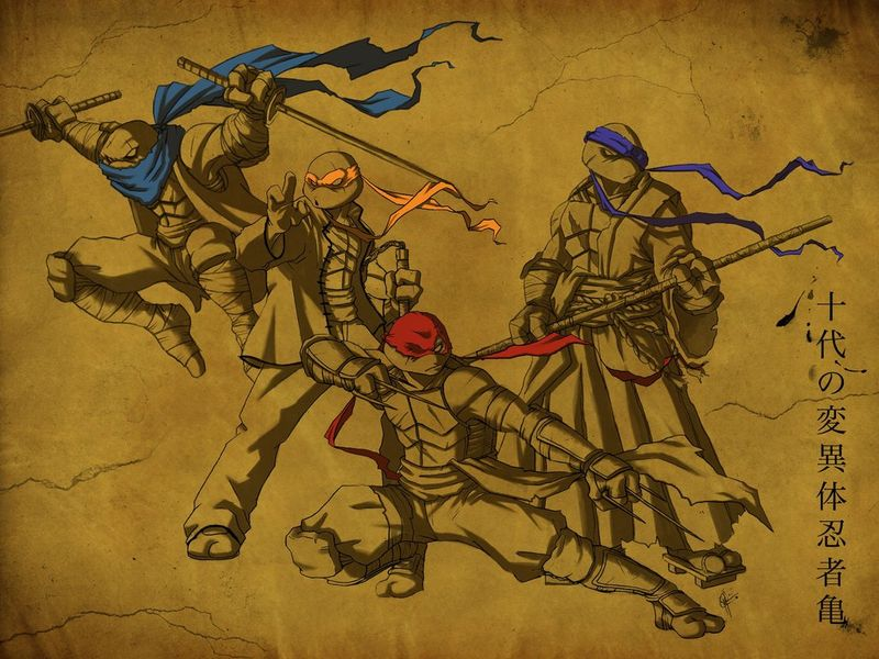 TMNT Feudal_Era_by_jeftoon01 deviantart