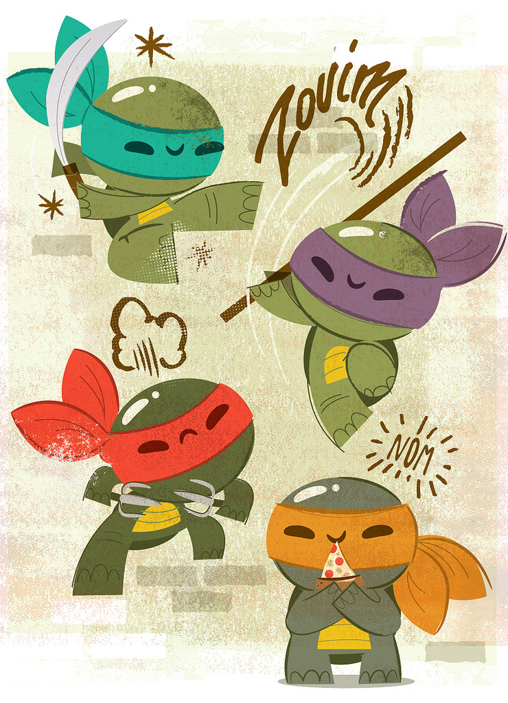 TMNT by kali meadows via hello zombie & flickr