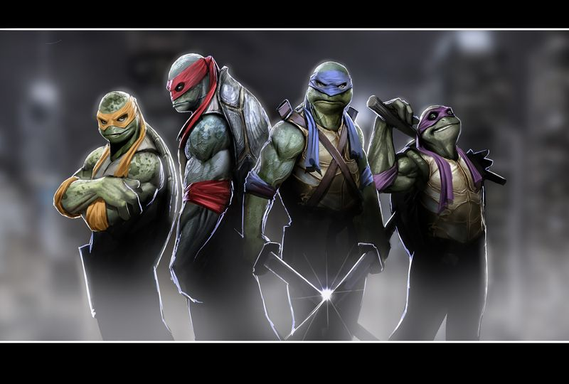 TMNT wallpaper via 4chan random