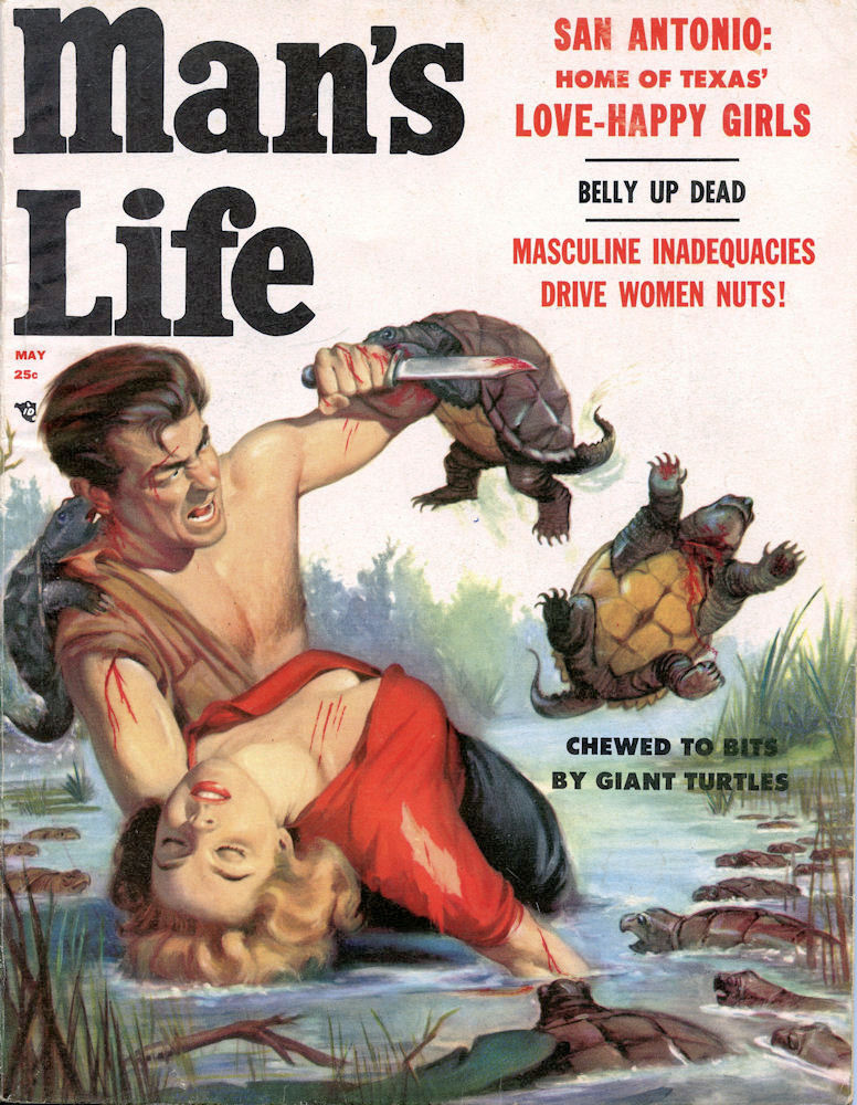 TMNT Man's Life, May 1957. Cover by Will Hulsey via subtropicbob flickr
