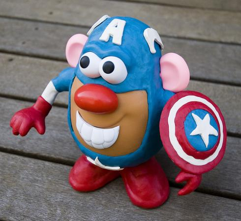 Captain-america-potato-head via walyou
