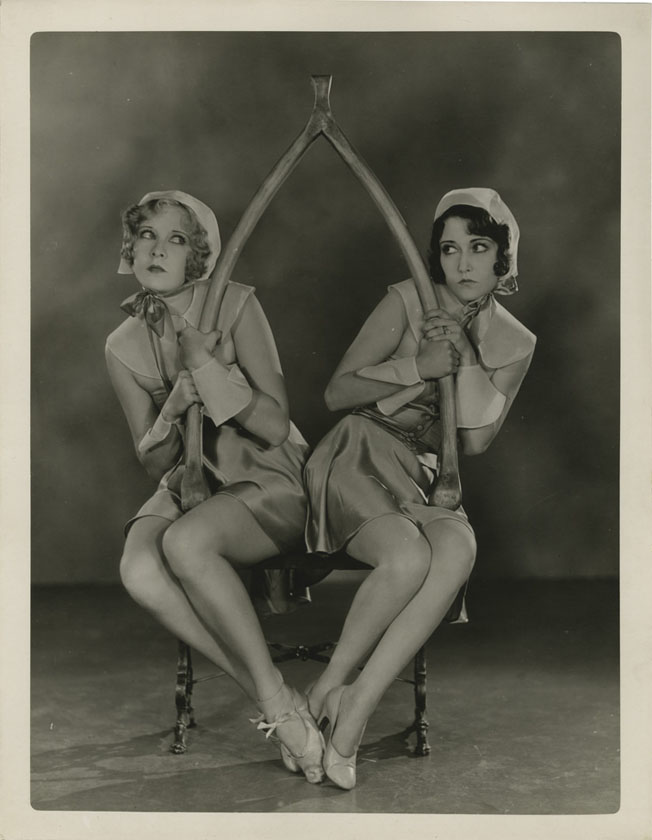 Thanksgiving Gwen Lee and Dorothy Sebastian fighting for the wishbone p via gothollywood