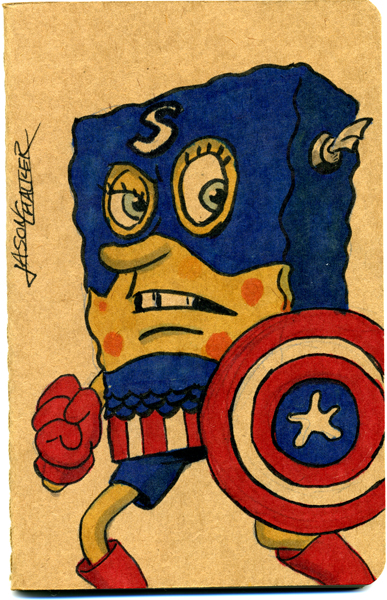 Captain sponge bob america pants by jason chalker