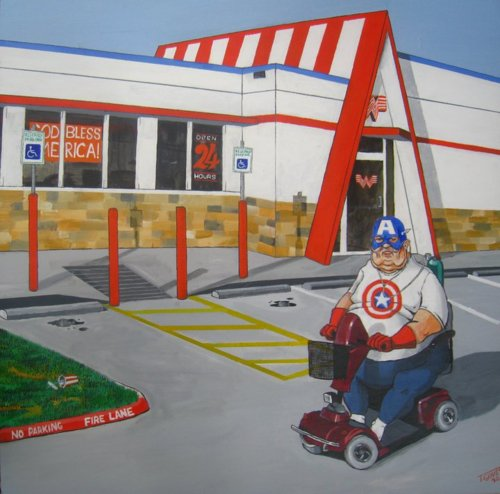 Captain america whataburger via modest tones