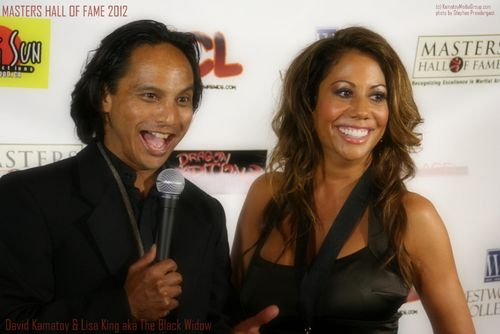 David Kamatoy with Lisa King aka The Black Widow